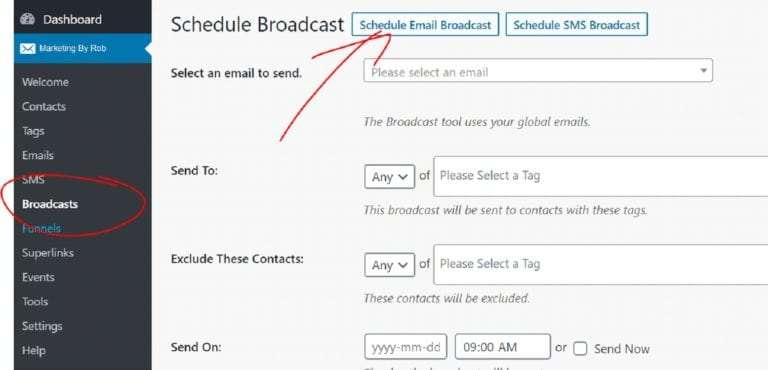 How To Schedule a Broadcast