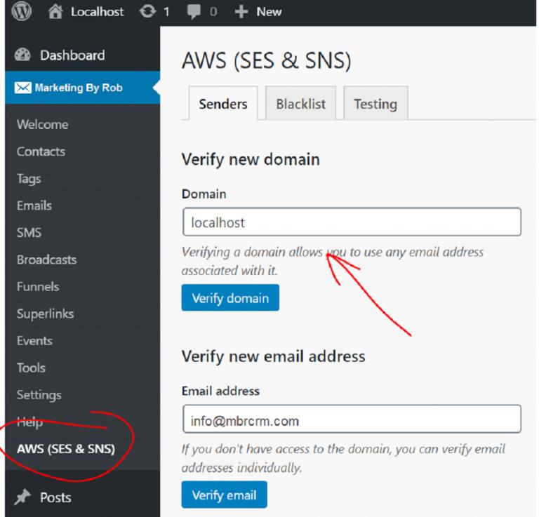 Adding a Domain Sender Identity