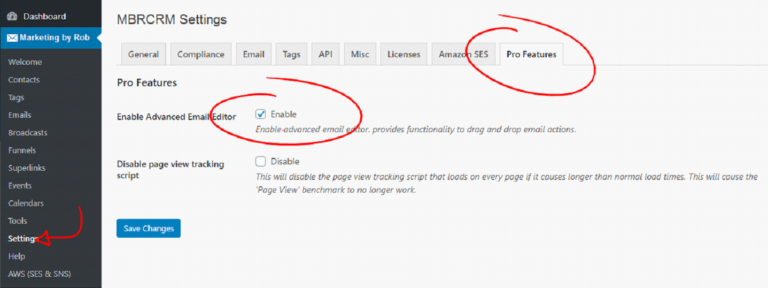 Enable the Advanced Email Editor