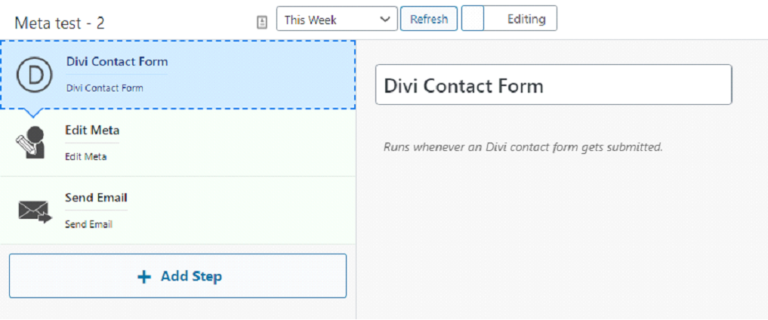 How to connect the Divi contact form