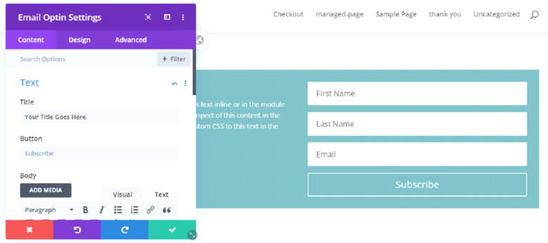 How to Connect the Divi Optin Module