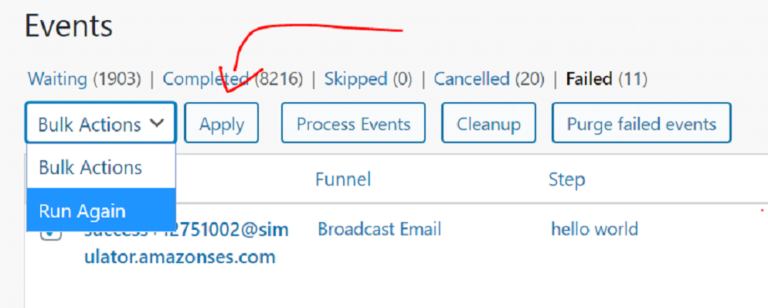 How To Reschedule Failed Events