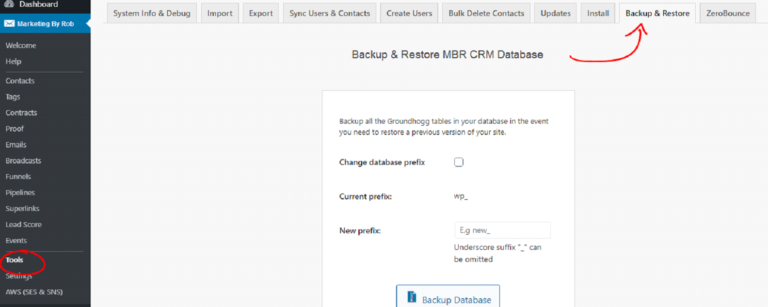 How to Restore MBR CRM From a Backup